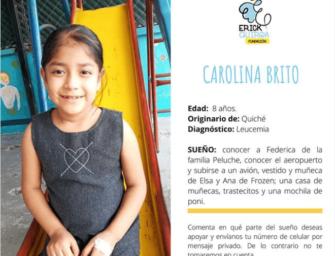 VIDEO | Carolina Brito, diagnosticada con leucemia, cumple uno de sus sueños