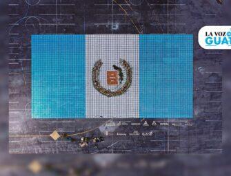La bandera más grande de Guatemala pintada a mano